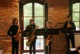 Kvartet saksofonov v izvedbi Glasbene šole Fran Korun Koželjski Velenje.